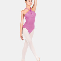 Free Shipping - High Neck Drape Front Halter Leotard by MOTIONWEAR