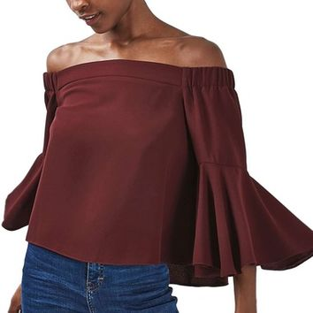 Topshop Ella Off the Shoulder Top | Nordstrom