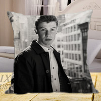 Shawn Mendes Photoshoot on square pillow cover 16inch 18inch 20inch