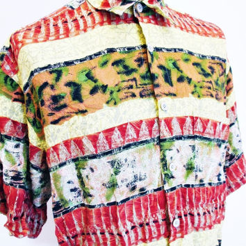 Vintage 1990s Shirt Urban Renewal Outfitters Indie Street Style Outsized L