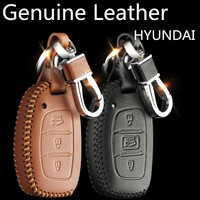 2017 Fashion Car Genuine Leather Key Case cover KeyChain for HYUNDAI Elantra Avante MISTRA Tucson IX35 IX25 sonata89 VERNA
