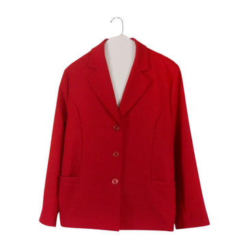 Plus Size Blazer Red Blazer Plus Size Clothing Plus Size Clothes Ladies Blazer Women Blazer Jacket Ladies Clothing Ladies Clothes Winter