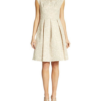 Eliza J Embellished Brocade Dress