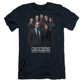LAW & ORDER SVU/TEAM - S/S ADULT 30/1 - NAVY -