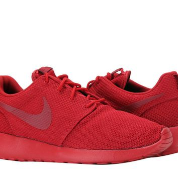 New Nike Roshe Run One Triple Red Mens Trainers Shoes Limited Edition Size  9.5 d11a2bda17