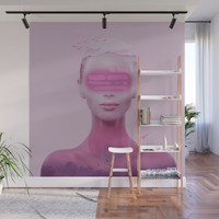 Surreal woman Wall Mural by vivianagonzlez