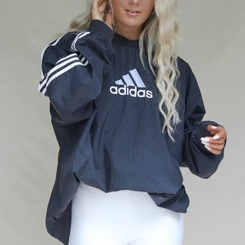 VINTAGE Black Adidas 90s Windbreaker