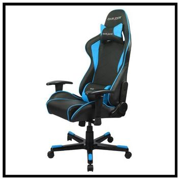 Rakuten.com:DXRacer US Dealer|DXRACER fe08/nb office chair gaming chair computer chair-Black and Blue|Uncategorized