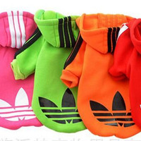 Pet Puppy Dog Clothes Coat Hoodie Sweater Costumes Size XS S M L XL 5 Colors Drop Shipping