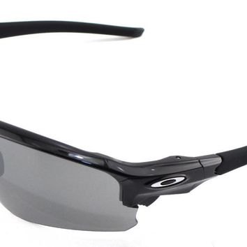 New Oakley Sunglasses Flak Draft Plsh Black w/Black #9373-0170 In Box Asian Fit