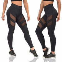 2017 Newest Yoga Pant Womens Tights Running Leggings Sports Pants Female Women Gym Running Mesh Workout Pants Fitness Yoga Pants
