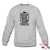 Barefoot Blue Jean Princess sweatshirt