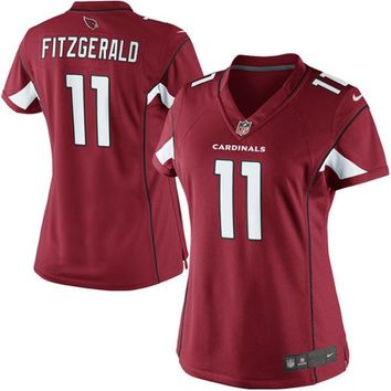 Women's Arizona Cardinals Larry Fitzgerald Nike Cardinal Limited Jersey