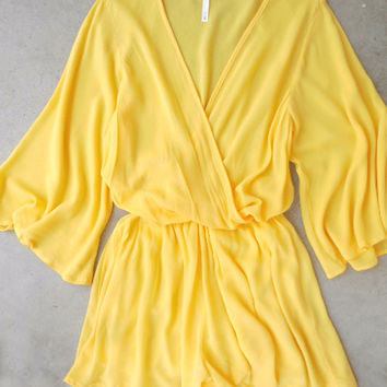 Sunny Rendezvous Romper [7172] - $42.00 : Feminine, Bohemian, & Vintage Inspired Clothing at Affordable Prices, deloom