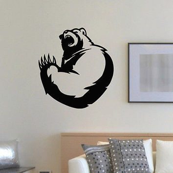 WALL DECAL VINYL STICKER PREDATOR ANIMAL BEAR WILD DECOR SB851