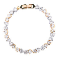 Luxury Crystal Gold/Silver Link Chain Bracelet
