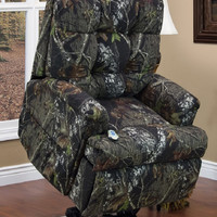 MedLift Power Lift Chair in Camo Fabric - Full Layout Trendelenburg Position 5555