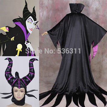 sleeping beauty Maleficent Halloween Costumes for women evil witch Cosplay SEXY Costumes Party dresses