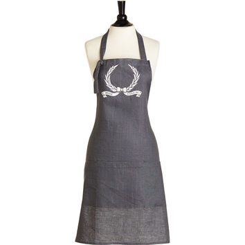 Heirloom Crest 3 Pocket Linen Chef Apron