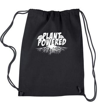 Plant Powered Vegan Vegetarian Drawstring Backpack