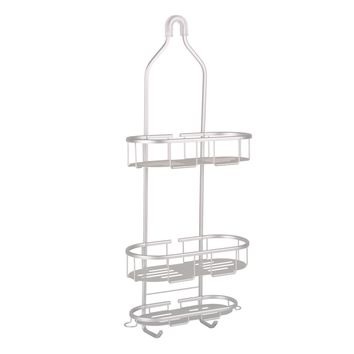 Flat Shelf Aluminum Over the Showerhead Rustproof Shower Caddy