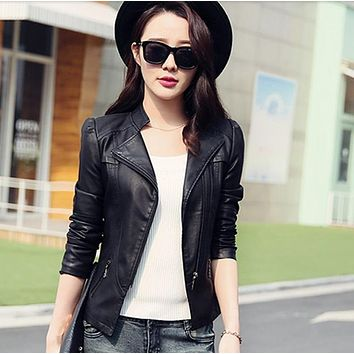 Limited Women Jaqueta Blazer Todays Deals Womens-autumn-jackets Fashion Jacket Bomber Motorcycle Sexy Cheap Leather Coat