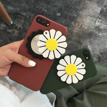 New Sunflower Mirror Case for iPhone X 8 7 6S Plus &Gift Box