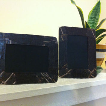 Decoupodge wooden frames set of two. Modern/wild design that matches any style.