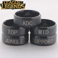 League of Legends Stainless Steel Role Rings
