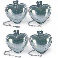 Fox Run 2-Piece Stainless Steel Heart Shape Tea Infuser