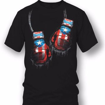 Puerto Rico Apparel - PR Fighting Pride T-Shirt Boxing Gloves