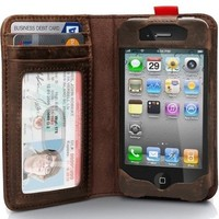 iPhone 4 / 4s Leather Notebook Case