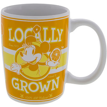 Disney Parks Minnie Locally Grown 100% All Natural Ceramic Coffee Mug New