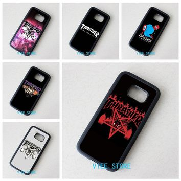 thrasher  fashion phone cover case for Samsung galaxy S3 S4 S5 S6 S7 S6 edge S7 edge Note 3 Note 4 Note 5 &qr30