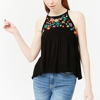 Embroidered Floral Cami