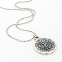 Long Coin Necklace, Star of David Pendant, Ancient style Filigree Necklace, Jewish Jewelry