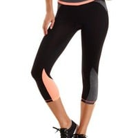 Color Block Performance Capri Leggings