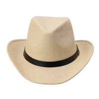 Kimisohand 6 Colors Summer Men Straw Hat Cowboy Men's