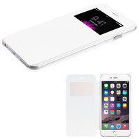 Book-Style View-Flip with Frosted Tray iPhone 6 Plus Case - White