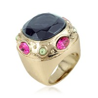 AZ Collection Designer Rings Large Crystal Stone Ring