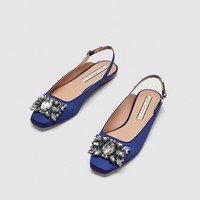 BEJEWELLED SLINGBACK SHOES DETAILS