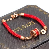 Bvlgari trend hot selling red line small red man bracelet