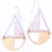 Sailboat Two Toned Earrings
