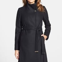Women's Ted Baker London 'Nevia' Stand Collar Belted Wrap