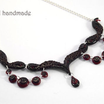 OOAK snake inspired gothic necklace
