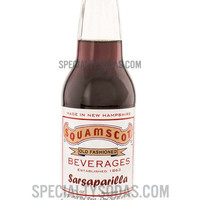 Squamscot Old Fashioned Sarsaparilla Soda 12oz Glass Bottle