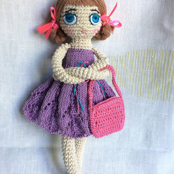 Crochet doll Crochet toy Gift for daughter Gift for girl Cute toy  Amigurumi doll