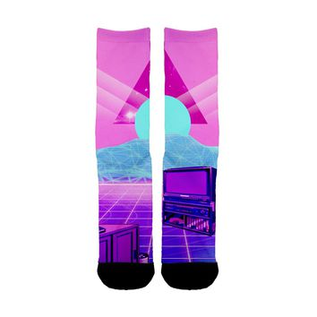 Vaporwave TV Socks