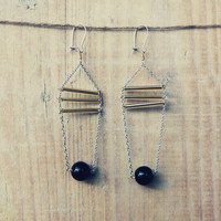 Geometric black earrings - MIRO