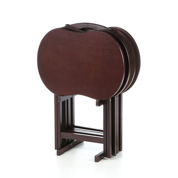 Winsome Skippy TV Tray Table with Stand (Set of 4)